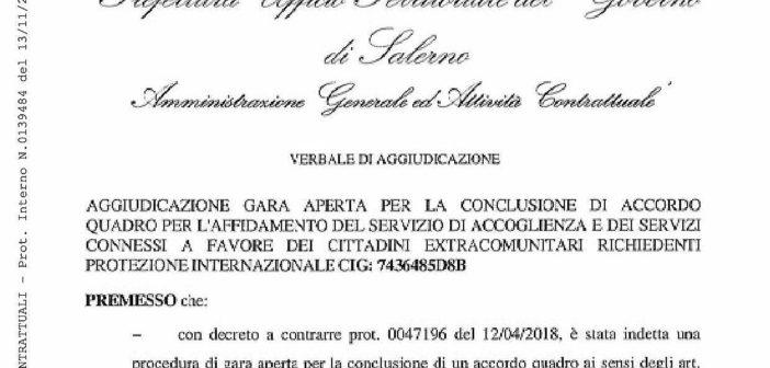 Extracomunitari, aggiudicato bando da 18.1 mln. 2.626 posti in 35 Comuni salernitani. I sindaci dal Prefetto